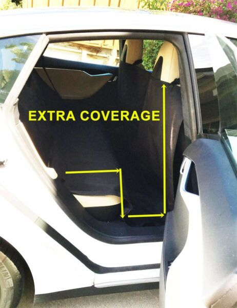 EXTRA LARGE HEAVY DUTY PET DOG CAR SEAT COVER WATERPROOF BACK SEAT BLACK $20.99