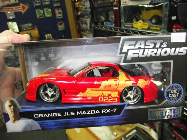 Jada 124 Fast & Furious Mazda JLS RX-7 Red & orange NIB