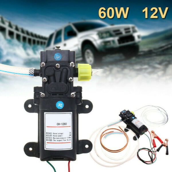Electric 12V Fuel Transfer Pump Oil Gas Gasoline Kerosene Car Tractor US