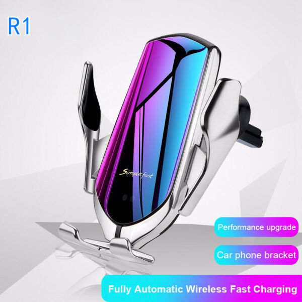 R1 Automatic Clamping 10W Car Qi Wireless Charger lot Car Phone Holder Infrared