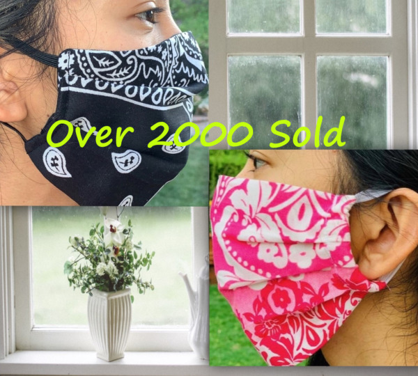Fabric Face Masks (+FREE GIFT PER ORDER) Handmade 100% Cotton Washable Adult USA $9.99