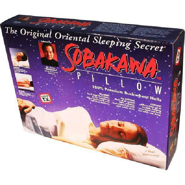 Therapeutic Pillow Sobakawa Queen Size Natural Buckwheat Relieve Muscle Tension $49.26