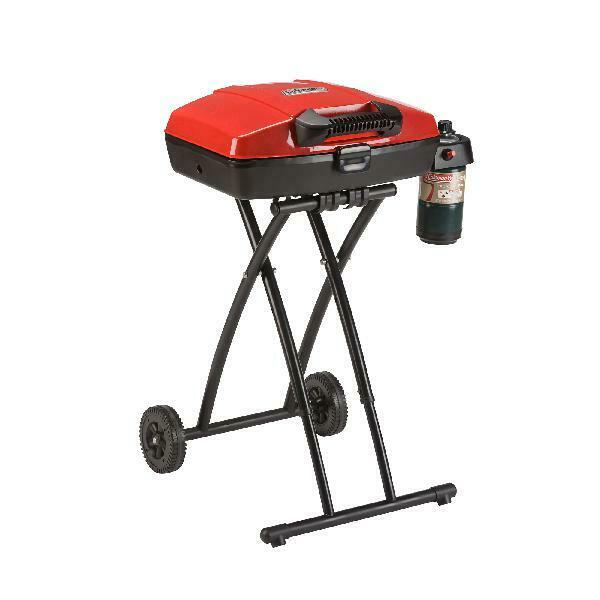 Portable Propane Grill Steel Coleman Sport Road Trip Picnic With PorcelainCoated