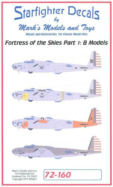 Starfighter Decals 172 FORTRESS OF THE SKIES Part 1 B-17B Flying Fortress