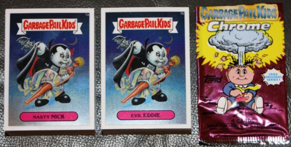 2013 GARBAGE PAIL KIDS CHROME 1 SET COMPLETE 110 CARDS + LOST SET GPK