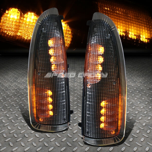 FOR 00-07 SUPER DUTY SMOKED LENS BLACK HOUSING TOWSIDE MIRROR LED SIGNAL LIGHT