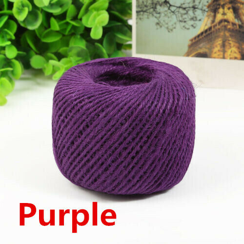 50M 3Ply Burlap Natural Fiber Jute Twine Rope Cord String Craft DIY Decor Gift