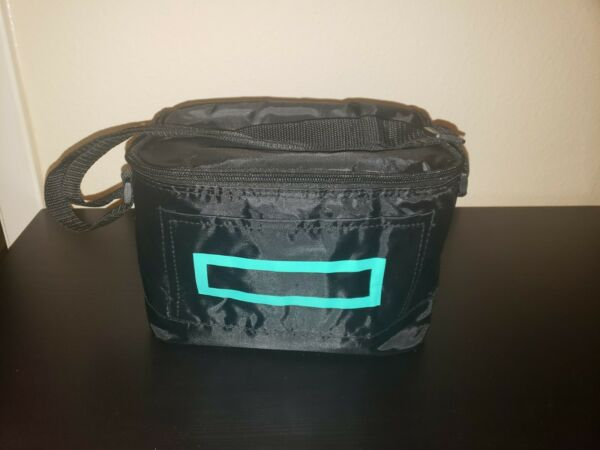 NEW cooler insulated lunch bag box food container storage black green rectangle