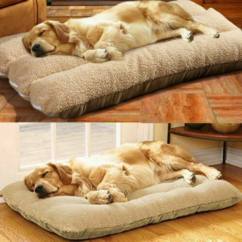 XL Orthopedic Dog Bed Pillow Plush Sherpa Large Pet Lounger for Crate Foam Soft $16.96