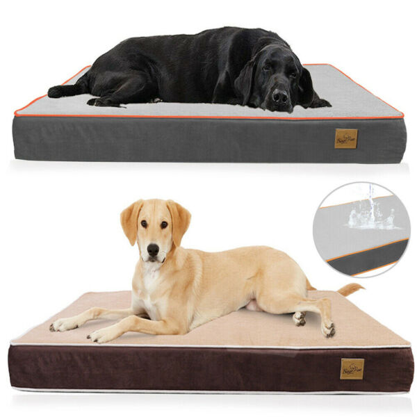 L XXXL Extra Large Pet Bed Plush Mattress Heavy Duty Orthopedic Dog Bed Washable $39.96