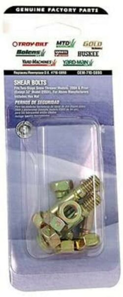 Mtd Snow Thrower Shear Bolts Part 710-0890 Genuine Parts New