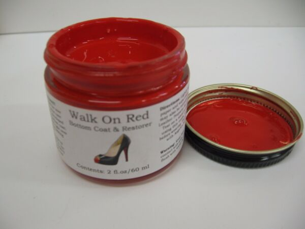 Angelus Brand Walk On  Red - 2 oz  Red Shoe Sole Paint DIY  Louboutin Soles $7.99
