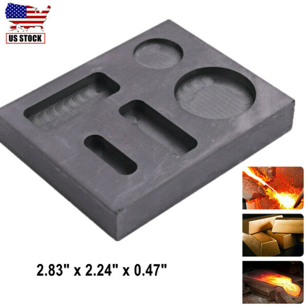 Gold Silver Graphite Ingot Bar Mold Combo Mould Crucible Melting Casting Refine