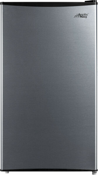 Mini fridge small refrigerator 3.3 Cu Ft Compact home dorm Stainless Steel look