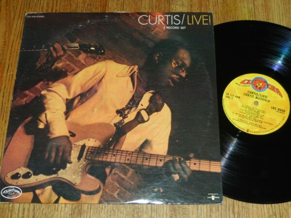 CURTIS MAYFIELD Dbl  LP Curtis Live 1971  Curtom Records # CRS-8008  VG+