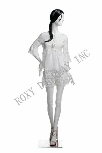 Female Fiberglass White Mannequin Eye Catching Abstract Style Display #MZ-LUCY2