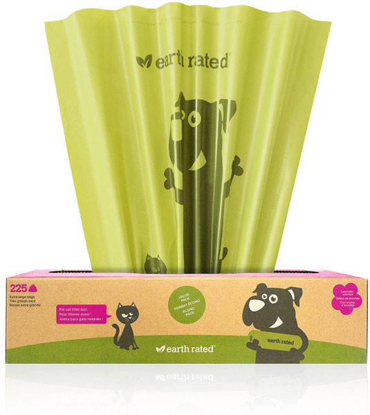 Earth Rated X Large Dog Waste Bags Lavender Scented Poop Bags For Large Breeds $16.99