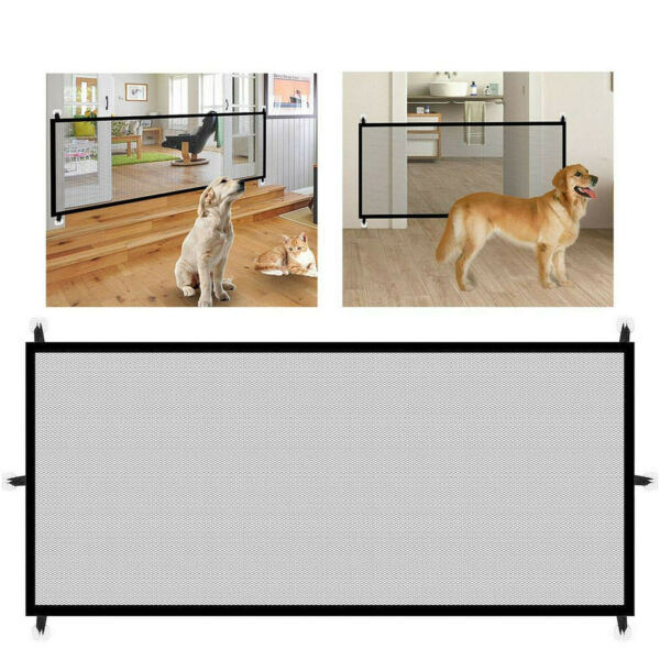 Large Pet Dog Baby Safety Gate Mesh Fence Portable Guard Indoor Home Kitchen net $10.89