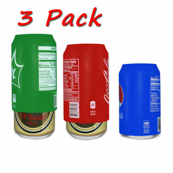 Beer can covers 3 pack, silicone beverage sleeve hide a beer bottle 12Fl Oz