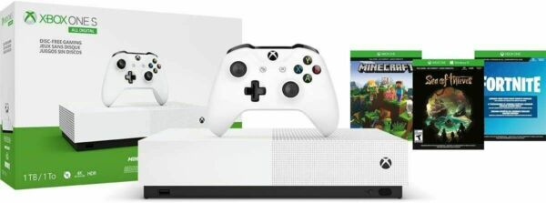 box One S 1TB All-Digital Edition Console with 3 Games