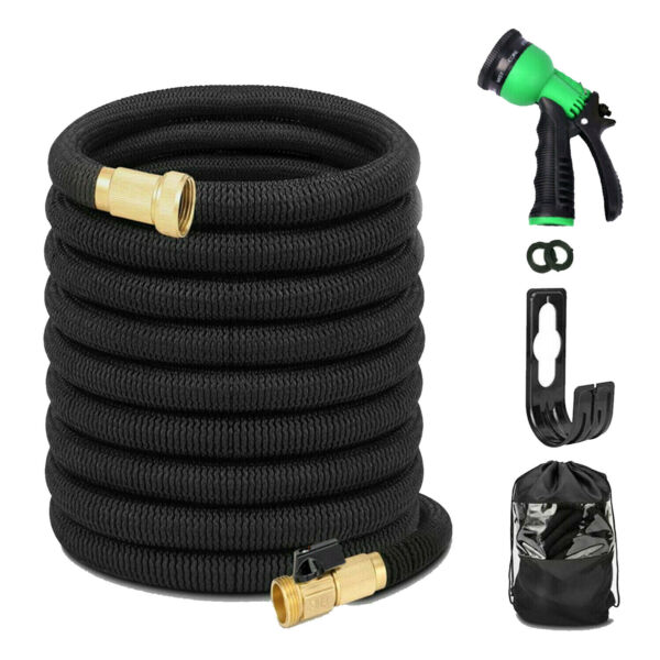 New Stainless Steel garden hose Water Pipe 255075100FT Flexible Lightweight