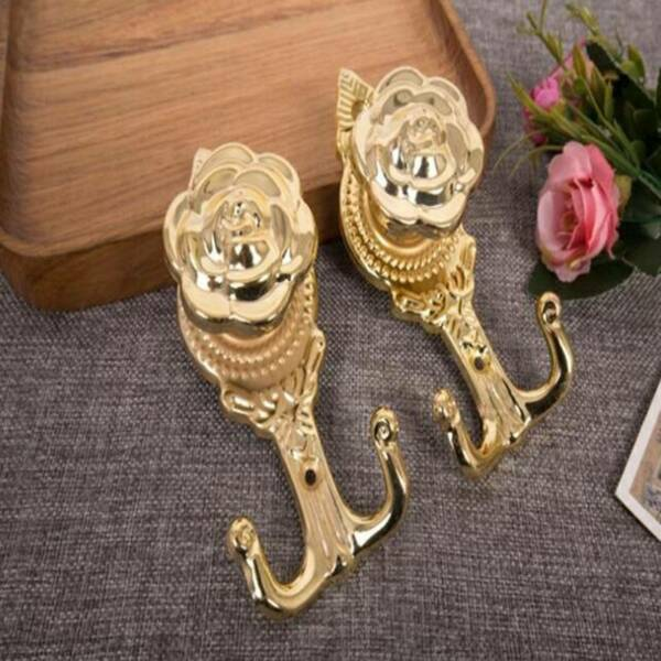 European Style Home Supplies Curtain Accessories Vintage Hanging Wall Hooks 6T