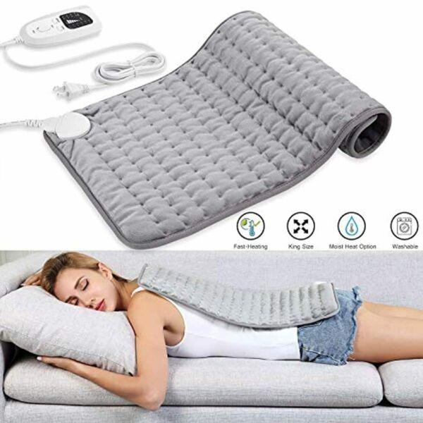 Dekugaa Heating Pad Electric for Moist Dry Heat 6 Electric Tempe 12quot; x 24quot; New $23.75