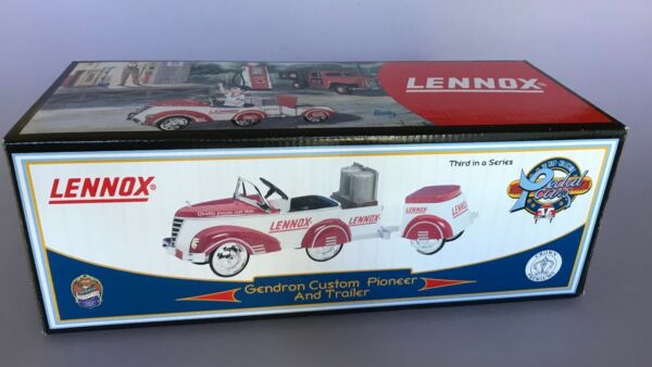 Limited Edition Crown Premiums 1940 Lennox Pioneer and Trailer Pedal Car $40.00