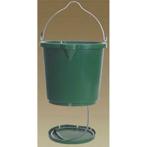 Farm Innovators Heated Flat Back Bucket Green 5 Gallon - FB-120