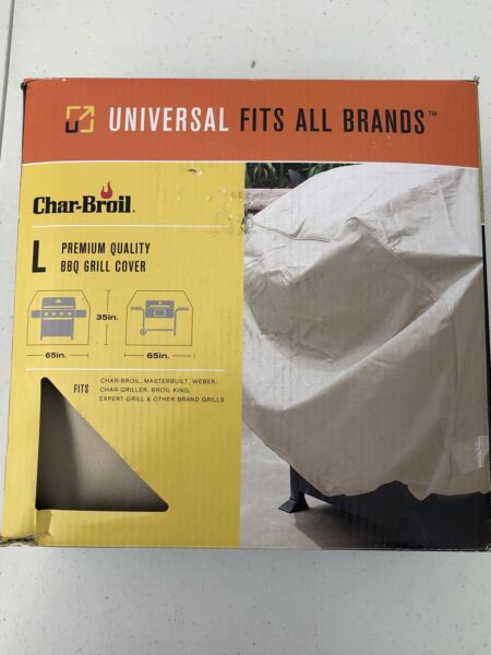 """Char Broil Heavy Duty Quality Beige Outdoor Lined UV Umbrella Cover 65""""X 35"""""""