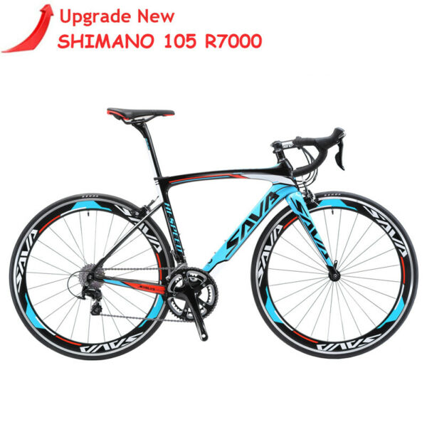 SAVA Road Bike 700C Carbon Road Bike Speed Carbon Bicycle with SHIMANO 105 R7000