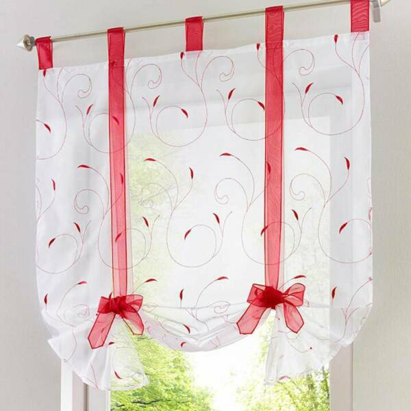 Bedroom Home Supplies Window Screening Liftable Balcony Curtain LI