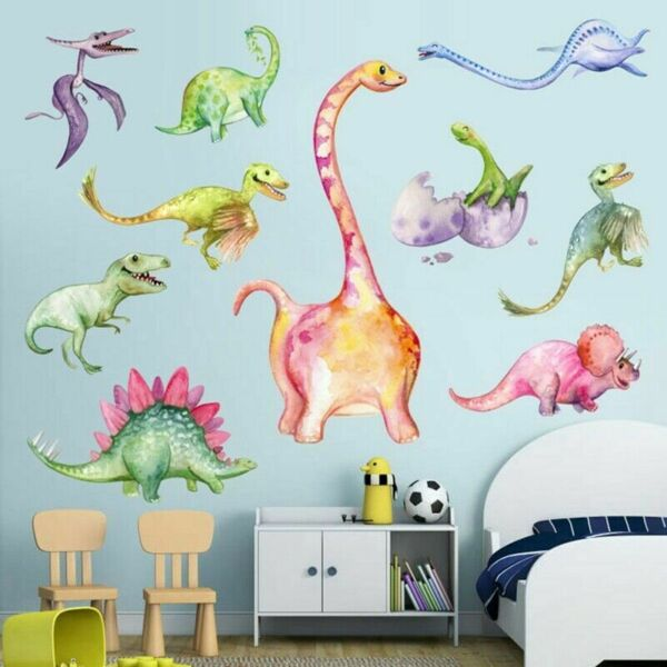 Dinosaurs Removable Wall Stickers Kids Boys Bedroom Home Decals Decor T7hw