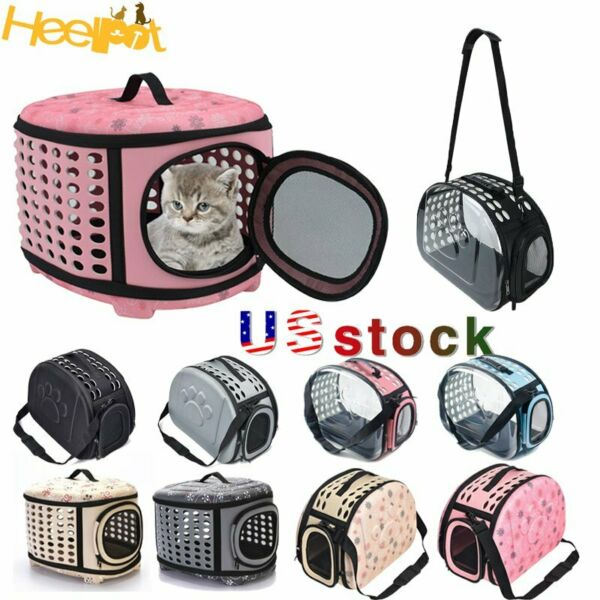 Portable Transparent Pet Cat Carrier Foldable Travel Dog Puppy Shoulder Bag US $25.99