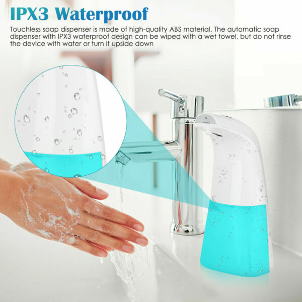 Touchless Automatic Foam Soap Dispenser - Wall Mount and Countertop - 300ML $19.99