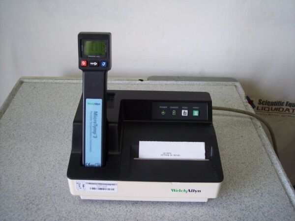 Welch Allyn 23650 MicroTymp 3 Portable Tympanometric Instrument Printer Charg