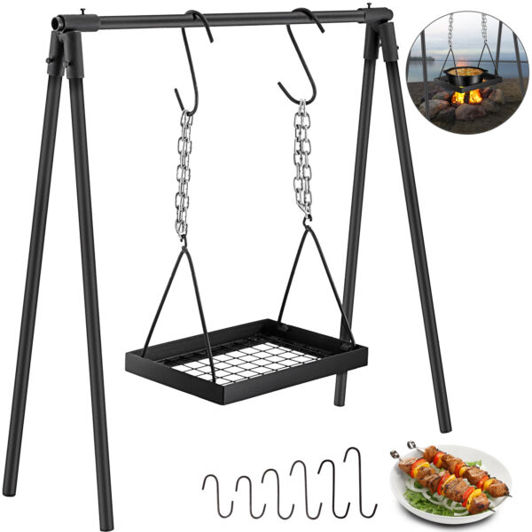 Campfire Cooking Stand Outdoor Cooking Cabon Steel Campfire Cooking Equipment