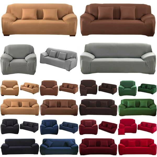 Anti Slip Slipcover 1 2 3 Seater Stretch Waterproof Chair Sofa Cover Protector $47.68