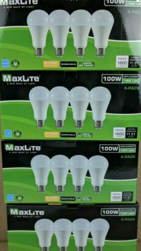 16 pack LED Light Bulbs 100 Watt Equivalent A19 Dimmable Soft White Daylight
