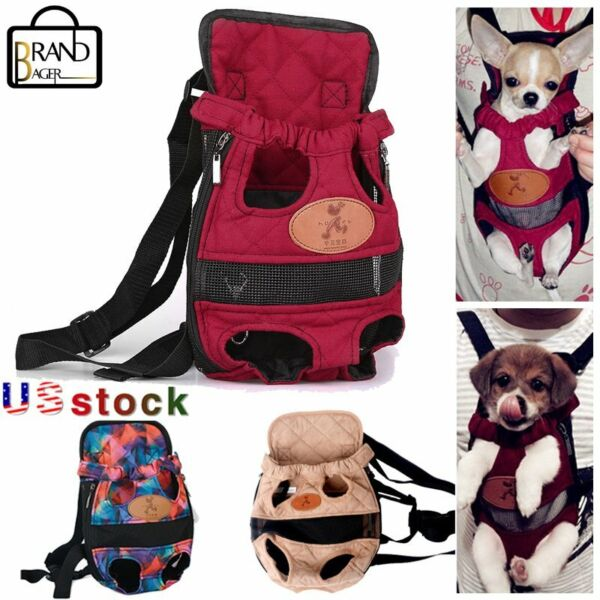 Pet Dog Carrier Legs Out Backpack Adjustable Front Cats Pets Mesh Travel Carrier $13.99