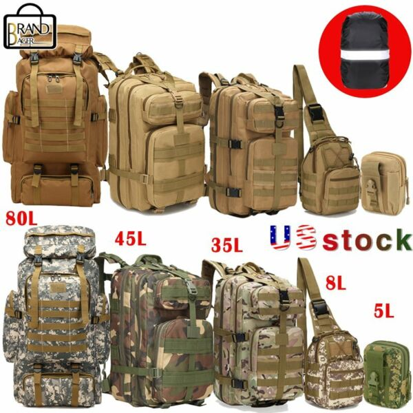 10L35L45L80L Tactical Outdoor Military Trekking Backpacks Camping Hiking Bags