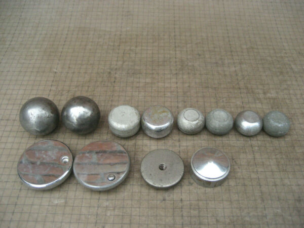 Lot Of 12 VTG Handles Knobs Round Tip 1quot; to 1 13 16quot; 1 2 20 TPI old parts 449B