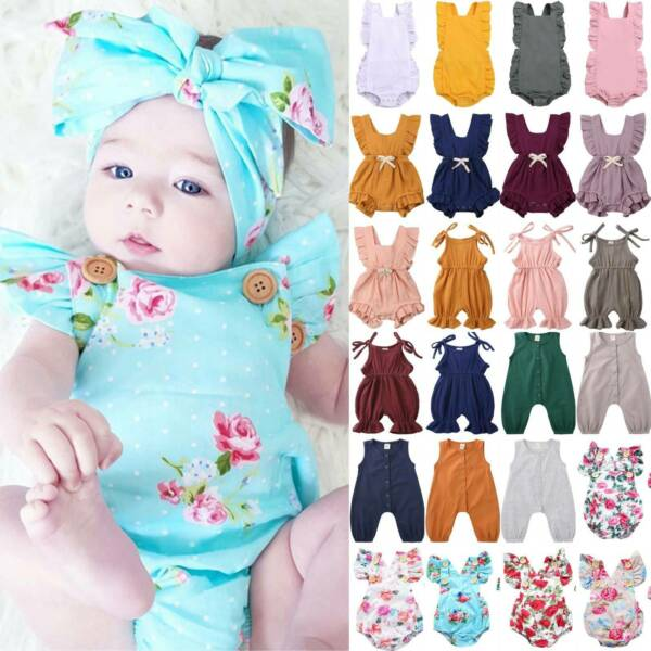 Toddler Infant Baby Girl Casual Summer Romper Bodysuit Playsuit Jumpsuit Clothes