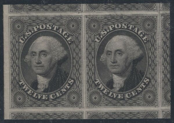 #17 Mint Pair 100J Guaranteed Finest in Existence - Parts of 10 Stamps (GD 625)
