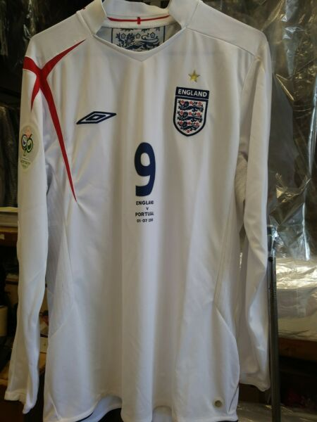 New Authentic Umbro 2006 England Rooney Jersey  Portugal    Germany World Cup