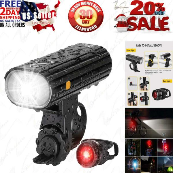 Te Rich Bicycle Lights 800 Lumens Bike Front Rechargeable amp; LED Rear Light $30.95