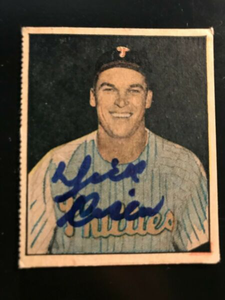 1951 Berk Ross Hit Parade Of Champions Card #3-8 Dick Sisler Autographed Signed