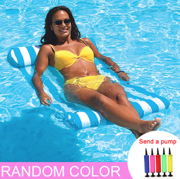 Swimming Pool Floating Water Hammock Lounge Chair Inflatable Floating Summer $20.00