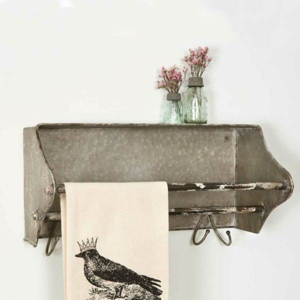 Toolbox Wall Rack in Distressed Tin $45.60