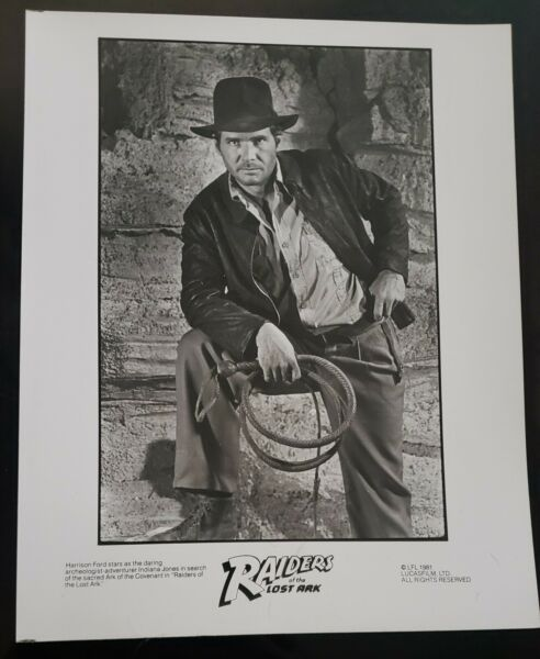 1981 Raiders of The  Lost Ark Glossy 8x10 CAST PHOTO HARRISON FORD MINT!